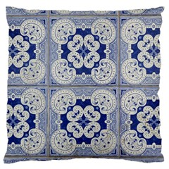 Ceramic Portugal Tiles Wall Standard Flano Cushion Case (one Side) by Amaryn4rt