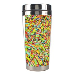 Canvas Acrylic Design Color Stainless Steel Travel Tumblers by Amaryn4rt