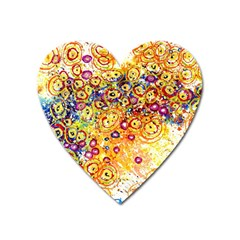 Canvas Acrylic Design Color Heart Magnet by Amaryn4rt