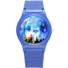 Dirty Dirt Spot Man Doll View Round Plastic Sport Watch (s) by Amaryn4rt