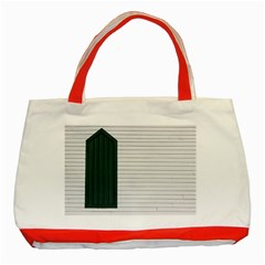 Construction Design Door Exterior Classic Tote Bag (Red) by Amaryn4rt