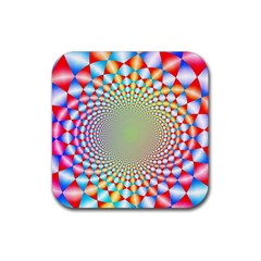 Color Abstract Background Textures Rubber Coaster (square)  by Amaryn4rt