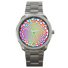 Color Abstract Background Textures Sport Metal Watch by Amaryn4rt