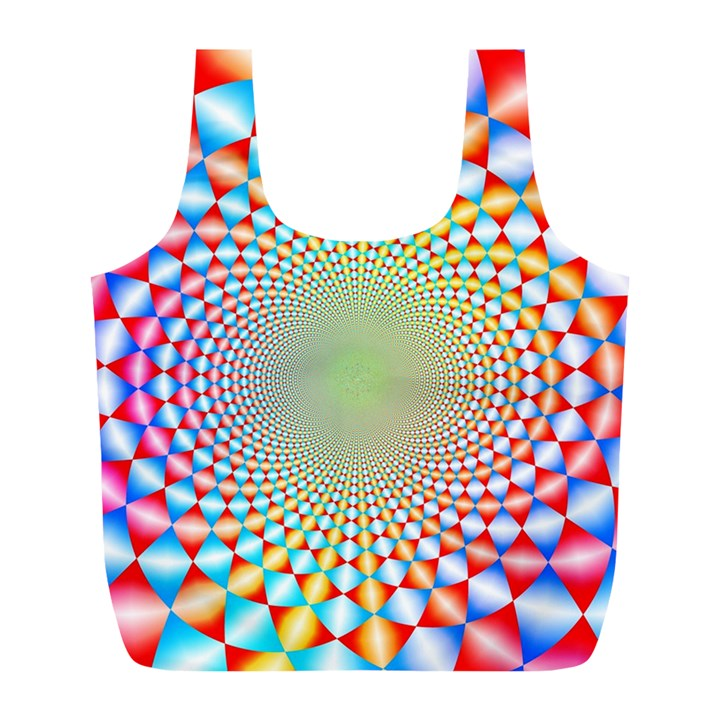 Color Abstract Background Textures Full Print Recycle Bags (L)
