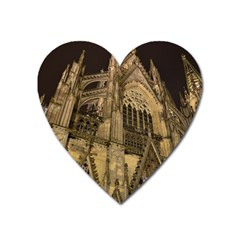 Cologne Church Evening Showplace Heart Magnet by Amaryn4rt