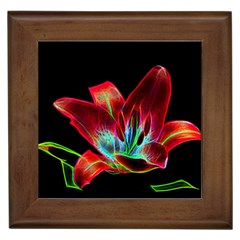 Flower Pattern Design Abstract Background Framed Tiles