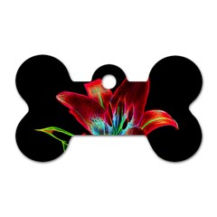 Flower Pattern Design Abstract Background Dog Tag Bone (two Sides) by Amaryn4rt