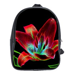 Flower Pattern Design Abstract Background School Bags (xl)  by Amaryn4rt
