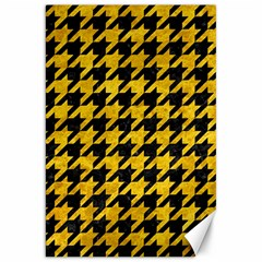 Houndstooth1 Black Marble & Yellow Marble Canvas 20  X 30  by trendistuff