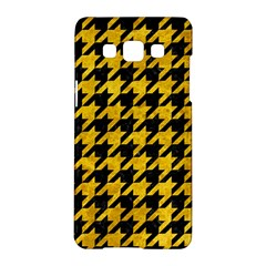 Houndstooth1 Black Marble & Yellow Marble Samsung Galaxy A5 Hardshell Case  by trendistuff