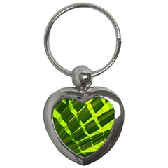 Frond Leaves Tropical Nature Plant Key Chains (heart)  by Amaryn4rt