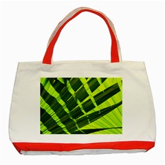Frond Leaves Tropical Nature Plant Classic Tote Bag (red) by Amaryn4rt