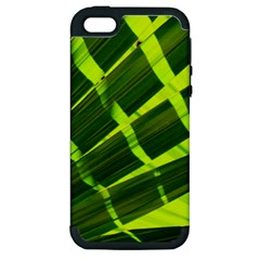 Frond Leaves Tropical Nature Plant Apple Iphone 5 Hardshell Case (pc+silicone) by Amaryn4rt