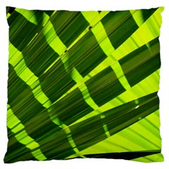 Frond Leaves Tropical Nature Plant Standard Flano Cushion Case (one Side) by Amaryn4rt