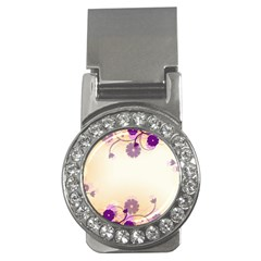 Floral Background Money Clips (cz)  by Amaryn4rt