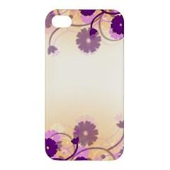 Floral Background Apple Iphone 4/4s Premium Hardshell Case