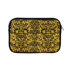 Damask2 Black Marble & Yellow Marble (r) Apple Ipad Mini Zipper Case by trendistuff