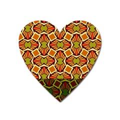 Geometry Shape Retro Trendy Symbol Heart Magnet by Amaryn4rt