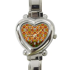 Geometry Shape Retro Trendy Symbol Heart Italian Charm Watch by Amaryn4rt