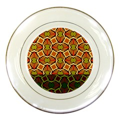 Geometry Shape Retro Trendy Symbol Porcelain Plates by Amaryn4rt