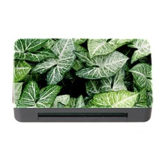 Green Leaves Nature Pattern Plant Memory Card Reader With Cf by Amaryn4rt