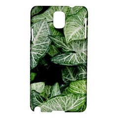 Green Leaves Nature Pattern Plant Samsung Galaxy Note 3 N9005 Hardshell Case