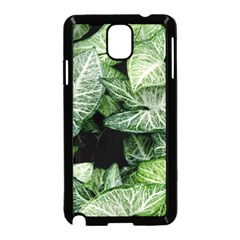 Green Leaves Nature Pattern Plant Samsung Galaxy Note 3 Neo Hardshell Case (black) by Amaryn4rt