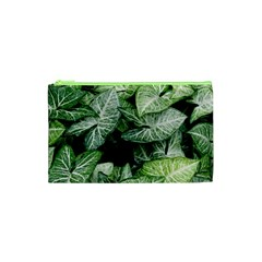 Green Leaves Nature Pattern Plant Cosmetic Bag (xs) by Amaryn4rt