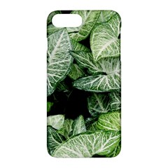 Green Leaves Nature Pattern Plant Apple Iphone 7 Plus Hardshell Case by Amaryn4rt