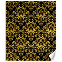 Damask1 Black Marble & Yellow Marble Canvas 20  X 24  by trendistuff