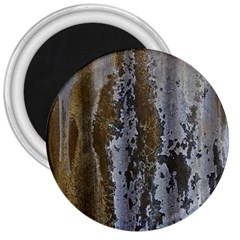 Grunge Rust Old Wall Metal Texture 3  Magnets by Amaryn4rt