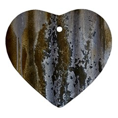 Grunge Rust Old Wall Metal Texture Ornament (heart)
