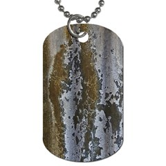 Grunge Rust Old Wall Metal Texture Dog Tag (two Sides) by Amaryn4rt