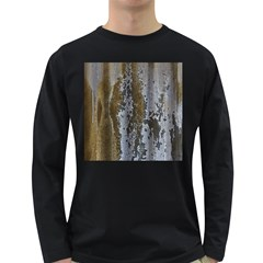 Grunge Rust Old Wall Metal Texture Long Sleeve Dark T Shirts by Amaryn4rt