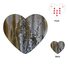 Grunge Rust Old Wall Metal Texture Playing Cards (heart)  by Amaryn4rt