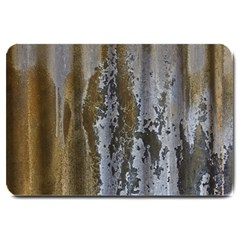 Grunge Rust Old Wall Metal Texture Large Doormat  by Amaryn4rt