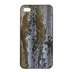 Grunge Rust Old Wall Metal Texture Apple Iphone 4/4s Seamless Case (black) by Amaryn4rt