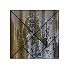 Grunge Rust Old Wall Metal Texture Acrylic Tangram Puzzle (4  X 4 ) by Amaryn4rt