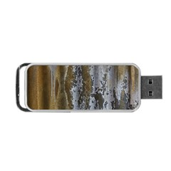 Grunge Rust Old Wall Metal Texture Portable Usb Flash (two Sides) by Amaryn4rt