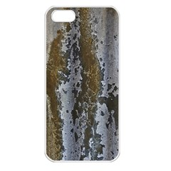 Grunge Rust Old Wall Metal Texture Apple Iphone 5 Seamless Case (white) by Amaryn4rt
