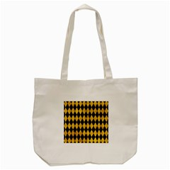 Diamond1 Black Marble & Yellow Marble Tote Bag (cream) by trendistuff