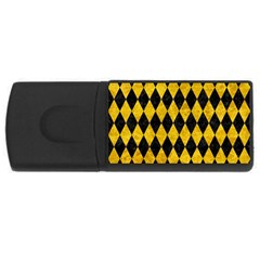Diamond1 Black Marble & Yellow Marble Usb Flash Drive Rectangular (4 Gb) by trendistuff