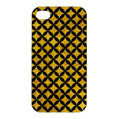 Circles3 Black Marble & Yellow Marble (r) Apple Iphone 4/4s Premium Hardshell Case