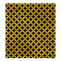 Circles3 Black Marble & Yellow Marble Shower Curtain 66  X 72  (large) by trendistuff
