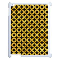Circles3 Black Marble & Yellow Marble Apple Ipad 2 Case (white) by trendistuff