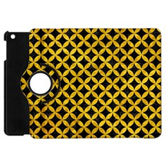 Circles3 Black Marble & Yellow Marble Apple Ipad Mini Flip 360 Case by trendistuff