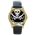 goonies Round Gold Metal Watch