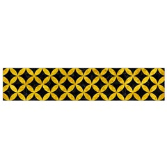 Circles3 Black Marble & Yellow Marble Flano Scarf (small) by trendistuff
