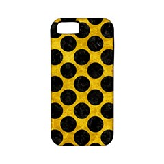 Circles2 Black Marble & Yellow Marble (r) Apple Iphone 5 Classic Hardshell Case (pc+silicone) by trendistuff