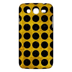 Circles1 Black Marble & Yellow Marble (r) Samsung Galaxy Mega 5 8 I9152 Hardshell Case  by trendistuff